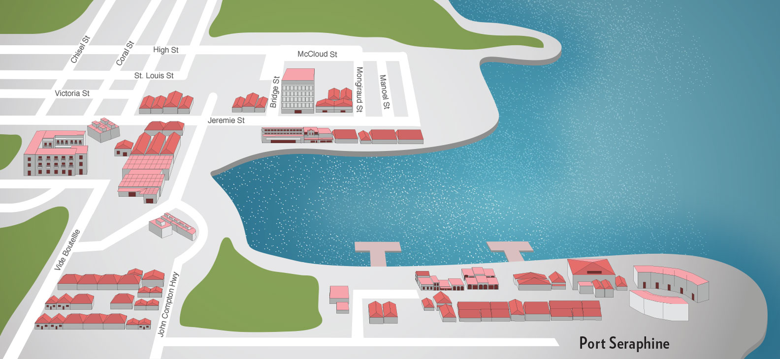 St Lucia Ports Port Shopping Spree Plan Your Get Map